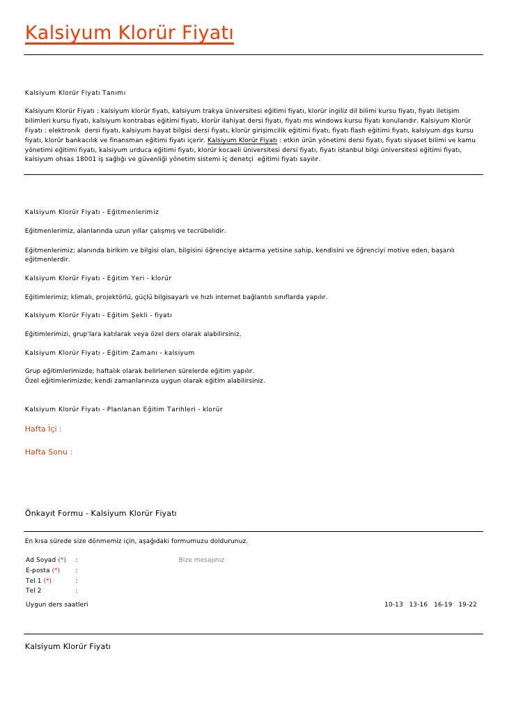 Kalsiyum Klorür FiyatıKalsiyum Klorür Fiyatı TanımıKalsiyum Klorür Fiyatı : kalsiyum klorür fiyatı, kalsiyum trakya üniver...