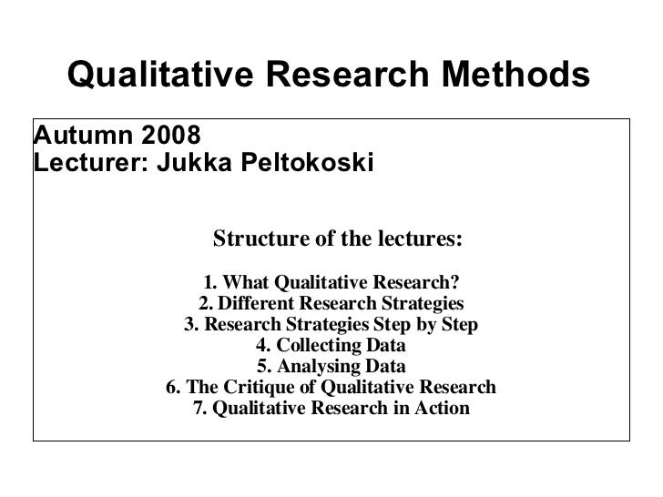qualitative research method essay