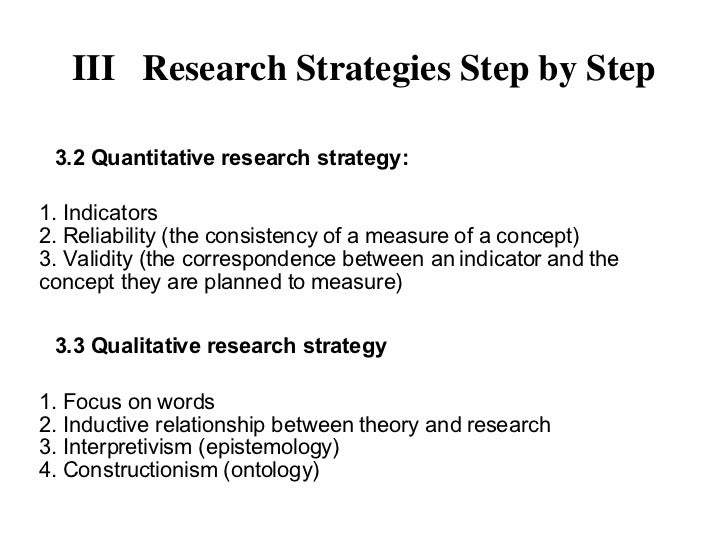 Research strategy in research methodology
