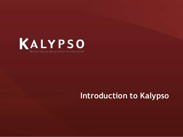 Introduction to Kalypso
