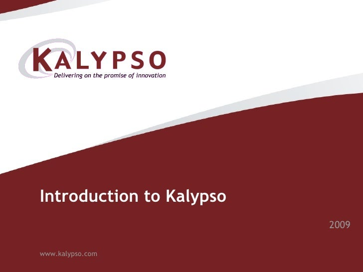 Introduction to Kalypso 2009