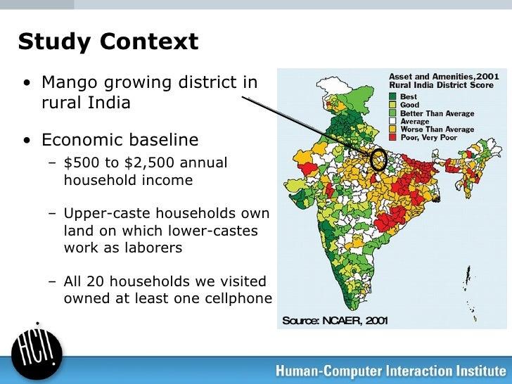 Study Context <ul><li>Mango growing district in rural India </li></ul><ul><li>Economic baseline </li></ul><ul><ul><li>$500...
