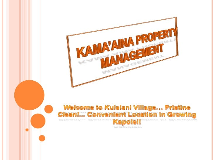 KAMA'AINA PROPERTY MANAGEMENT<br />Welcome to Kulalani Village… Pristine Clean!... Convenient Location in GrowingKapolei!<...