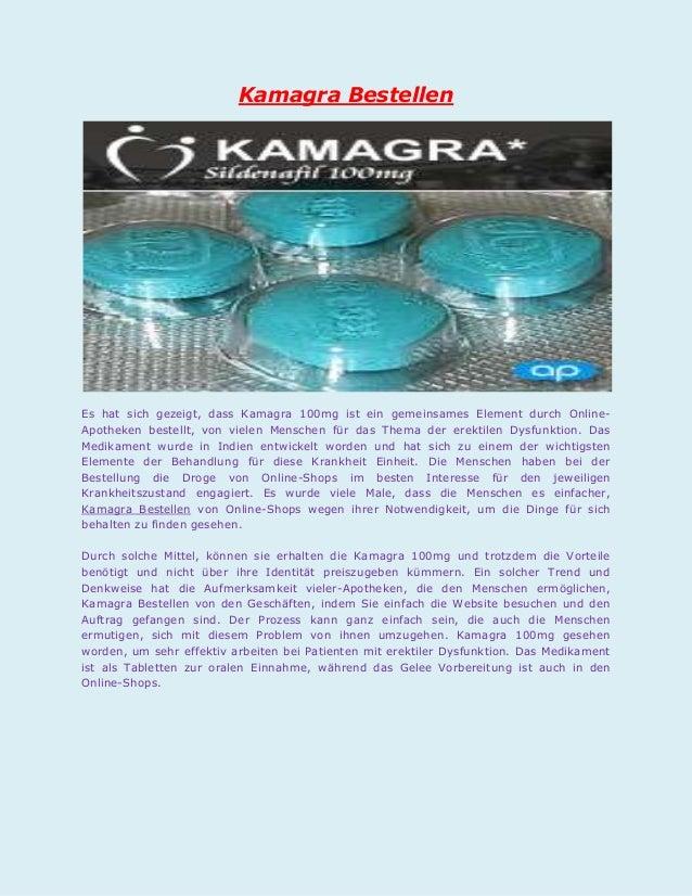 Kamagra BestellenEs hat sich gezeigt, dass Kamagra 100mg ist ein gemeinsames Element durch Online-Apotheken bestellt, von ...