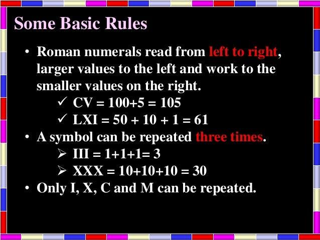 Kamal Roman Numerals 5 Th Class