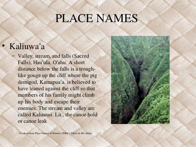 Kamapuaʻa Place Names Slide 2