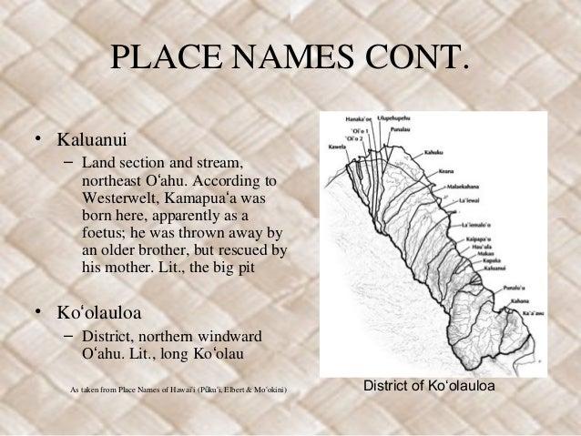 Kamapuaʻa Place Names Slide 3