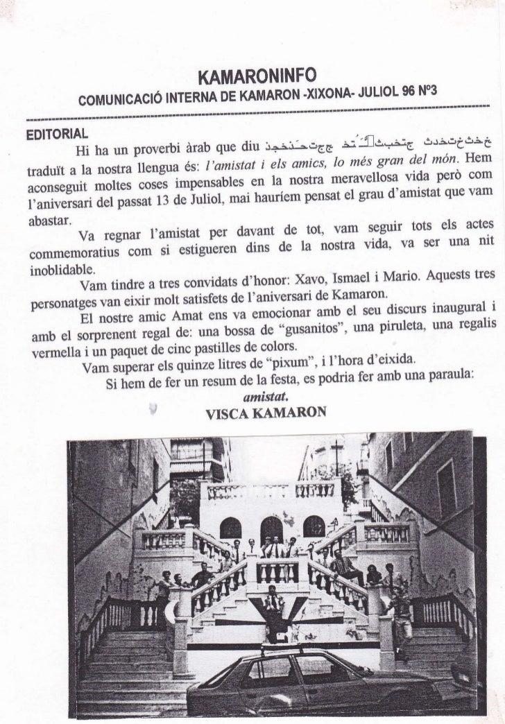 KAMARONINFO                                                       96 NO3           COMUNICACÉ INTERNA DE KAMARONXIXONAJULI...