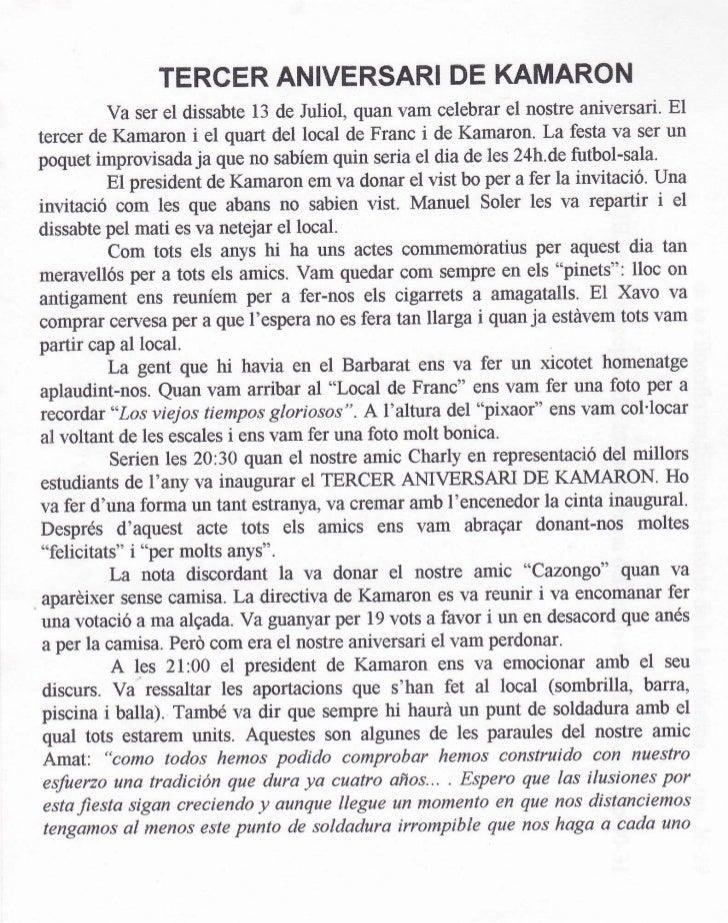 Kamaroninfo núm. 3 juliol 1996 Slide 2
