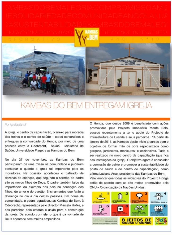 """Projeto Kambas do Bem #Sustentabilidade #RSE Luanda / Angola - Jornal """"Kambas do Bem"""" sobre a Comunidade do Mussende (ex-r..."""
