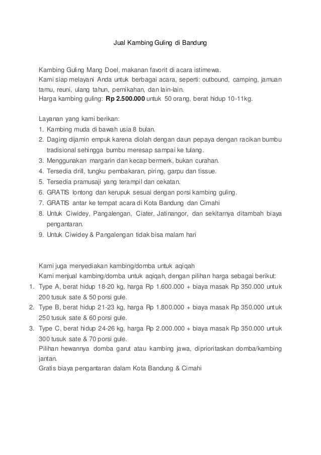 Jual Kambing Guling di Bandung Kambing Guling Mang Doel, makanan favorit di acara istimewa. Kami siap melayani Anda untuk ...