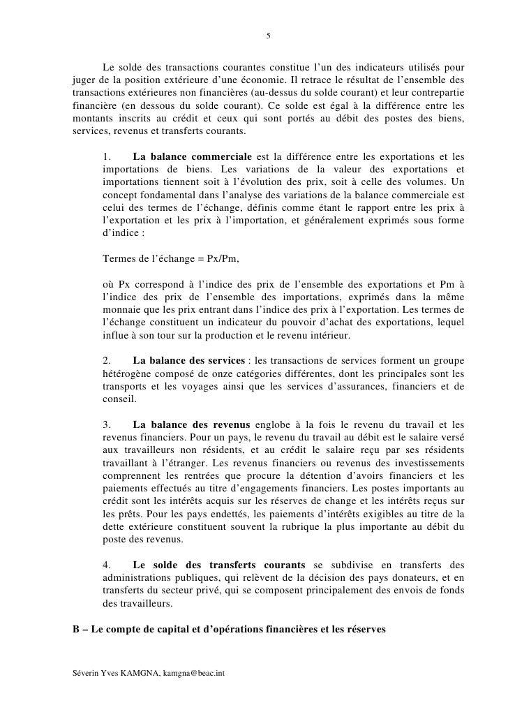 la balance des paiements pdf