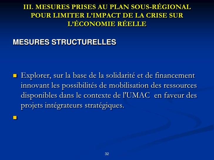 MESURES D'ORDRE MONETAIRE ET BANCAIRE<br />Institutionnaliser le Forum Annuel sur le Financement de l&apos;Economie de la ...