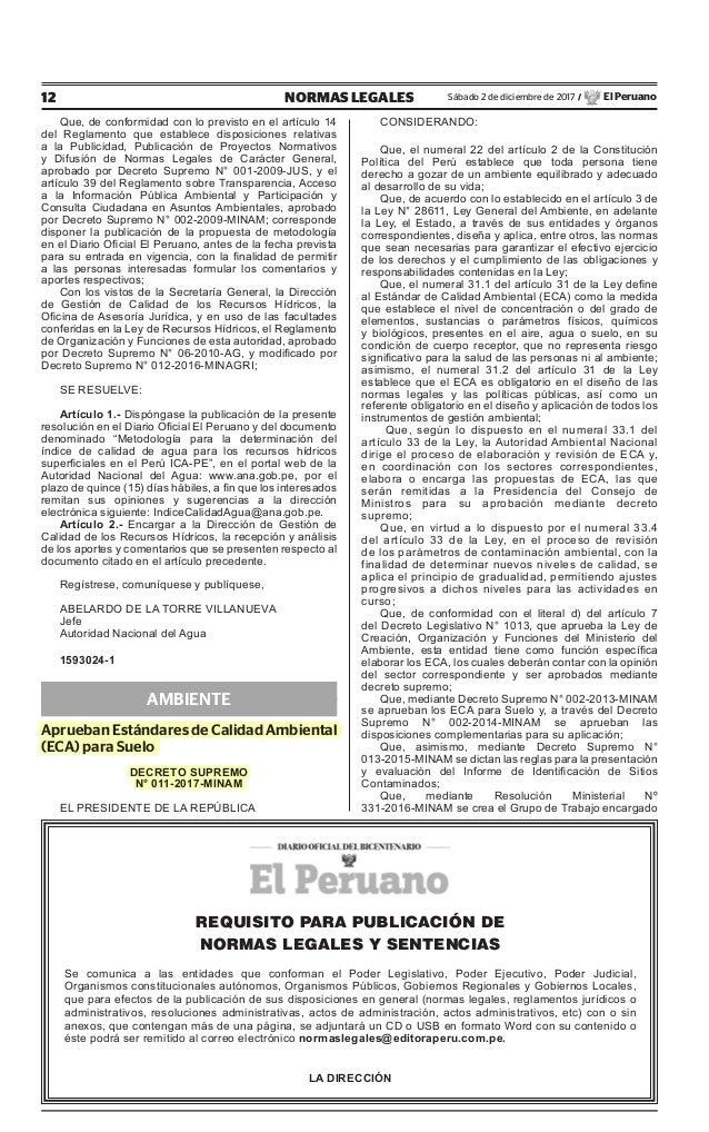 Aprueban est ndares de calidad ambiental para suelo minam for Clausula suelo real decreto 1 2017