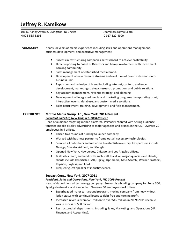 Executive Resume Writing Services Nj
