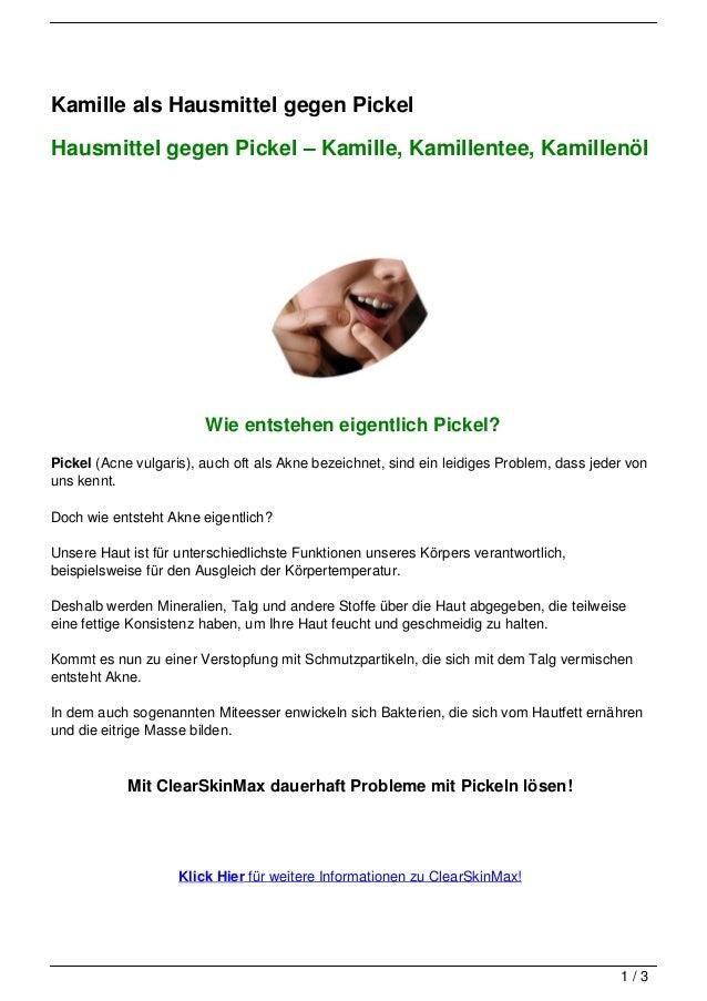 Kamille als Hausmittel gegen PickelHausmittel gegen Pickel – Kamille, Kamillentee, Kamillenöl                        Wie e...