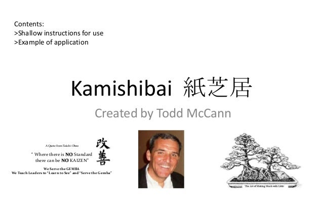 Contents: >Shallow instructions for use >Example of application                                    Kamishibai 紙芝居         ...