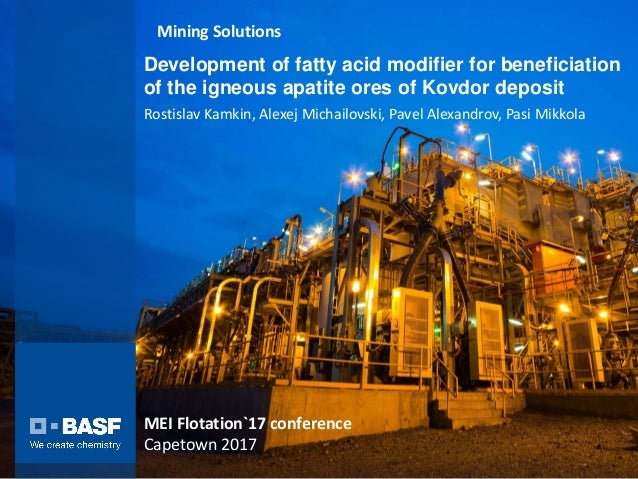 Development of fatty acid modifier for beneficiation of the