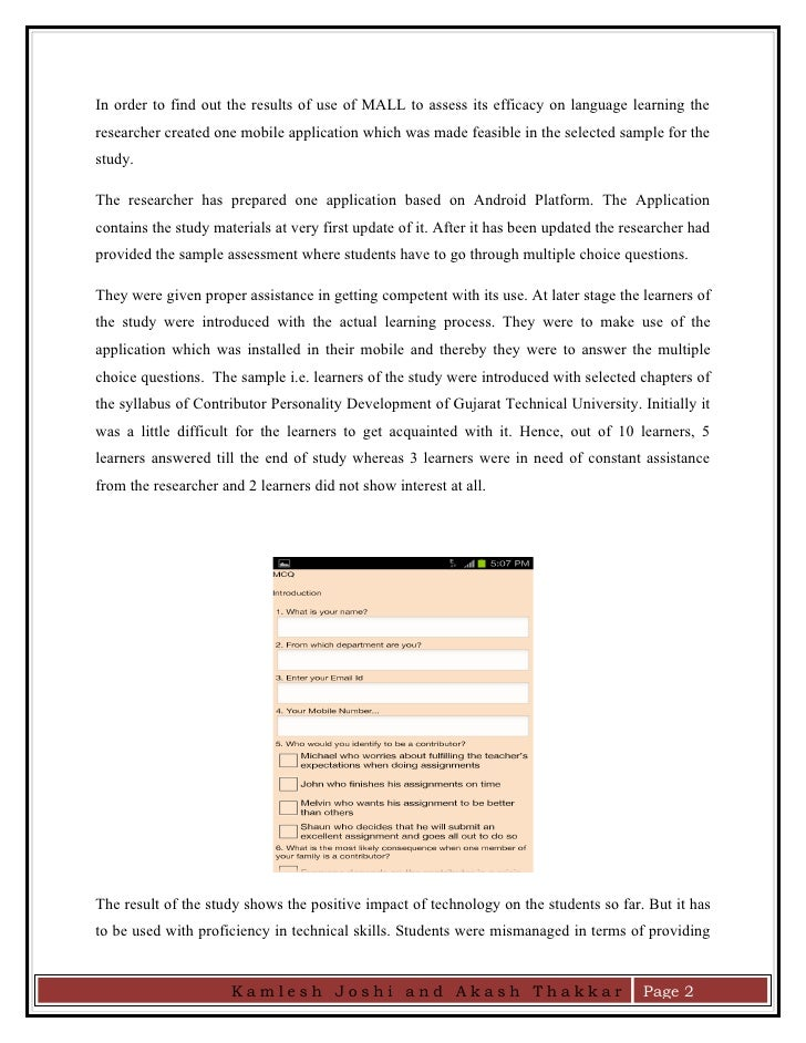 android application development research paper Agile development methods for mobile applications research in the field and development of a support tool provided his android application for me to.