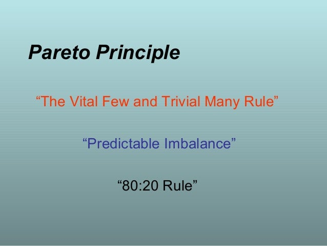 Pareto Chart Importance Making