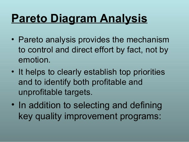 Pareto chart importance making pareto diagram ccuart Image collections