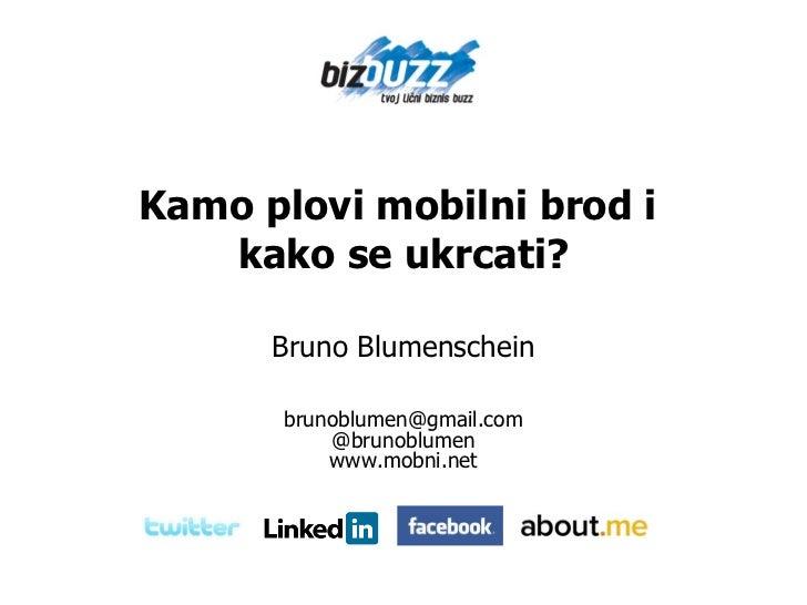 Kamo plovi mobilni brod i  kako se ukrcati? Bruno Blumenschein [email_address] @brunoblumen www.mobni.net