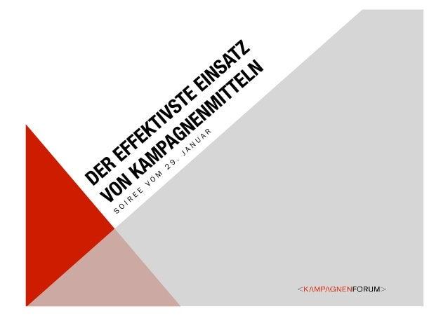 AUFBAU DES REFERATES• Einleitung, Facts & Figures•   Thesen zum Einsatz von Kampagnenmitteln•   Fallbeispiel 1: FairFis...