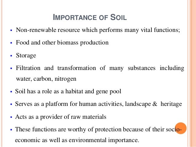 Threatened agricultural resources soil for What is important to know about soil layers