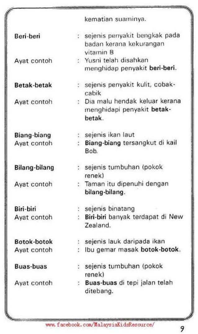 Contoh Kata Ganda Berentak Materi Pelajaran 4