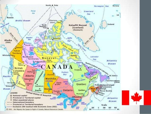 kanada térkép városokkal Kanada