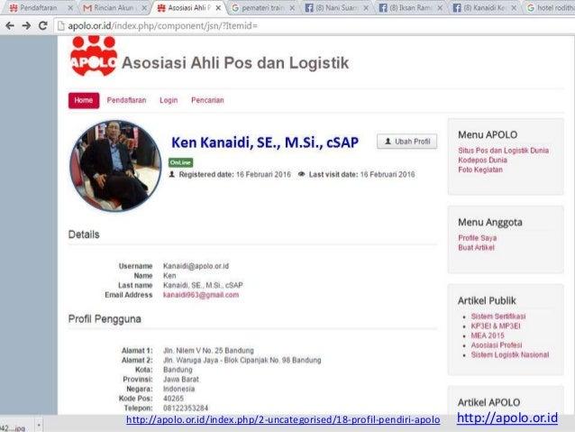 Ken Kanaidi, SE., M.Si., cSAP http://apolo.or.id/index.php/2-uncategorised/18-profil-pendiri-apolo http://apolo.or.id