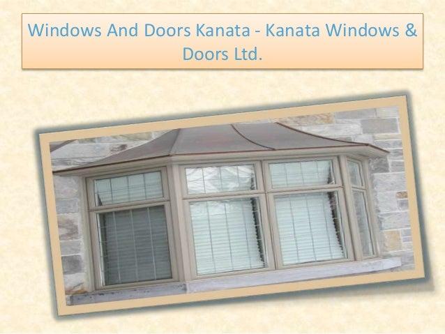 Windows And Doors Kanata - Kanata Windows & Doors Ltd.