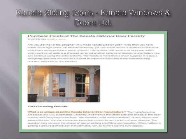 Purchase Points of The Kanata Exterior Door Facility POSTED cr-N ,  , ,                  8-33-x; lr1ECl r'icu_. :e mi.  .3...