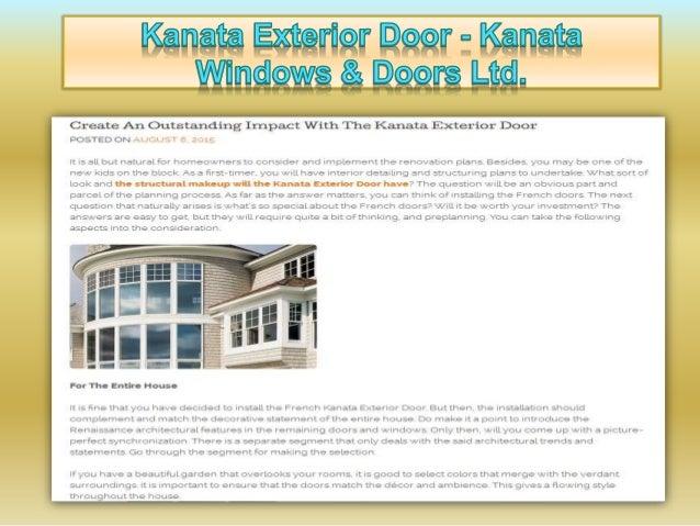 """Kflflfltfl EXWFIQT D99!' ' Kflflflfl  Create An Outstanding Irnpact With The Kanata Exterior Door DOSTEDON , : """" x '  I:  :5 3LL b..."""