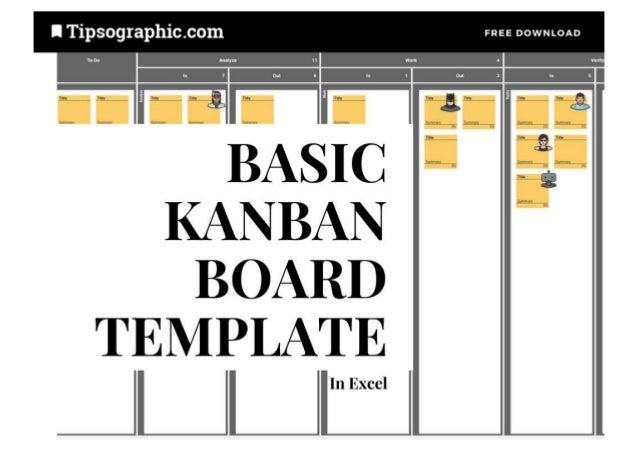 Basic Kanban Board Template for Excel with WIP Limits, Free Download …