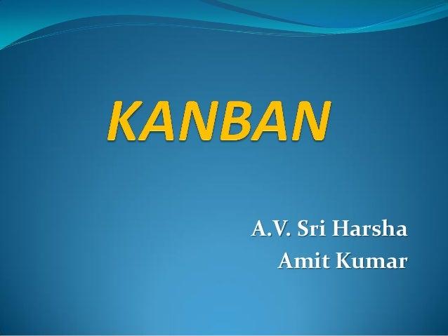 A.V. Sri Harsha Amit Kumar
