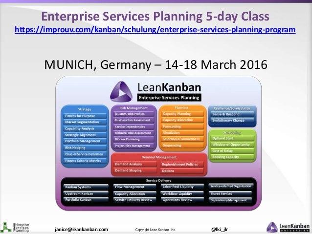 @lki_jlrCopyright Lean Kanban Inc.janice@leankanban.com Enterprise Services Planning 5-day Class https://improuv.com/kanba...