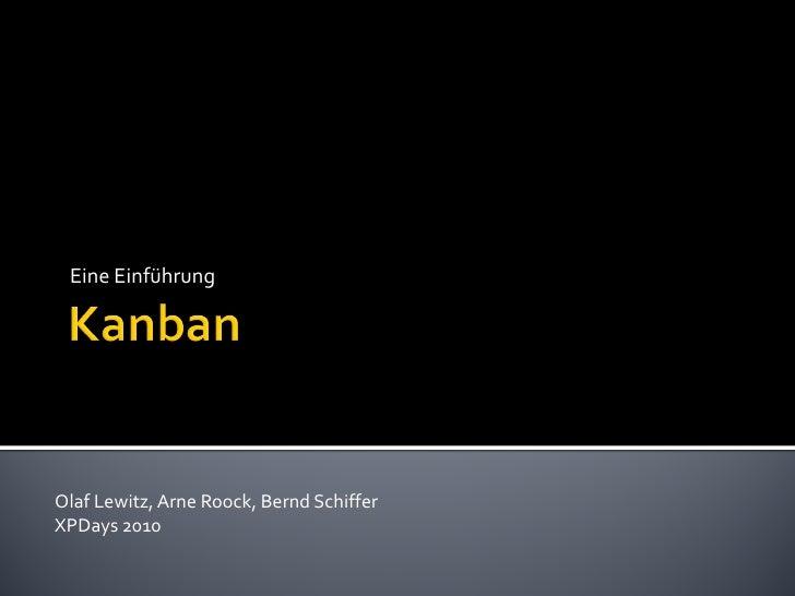 Kanban eineeinfuehrung