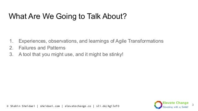Kanban is the New Scrum! Failure Transformation Patterns, Similarities, and Learning Slide 3