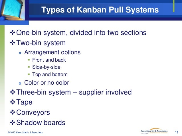 Types Of Kanban Pull Systems