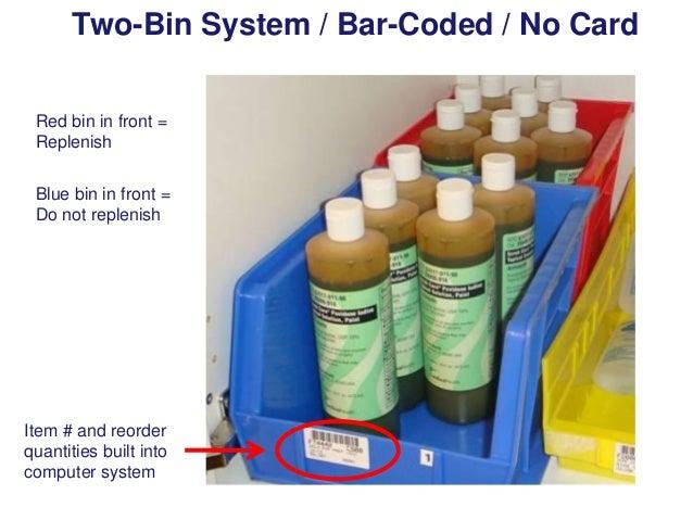 Two-Bin System / Bar-Coded /