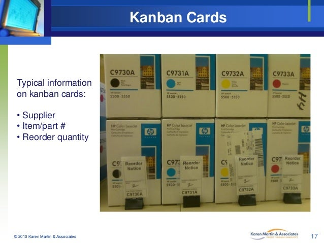 Kanban Cards Typical Information On