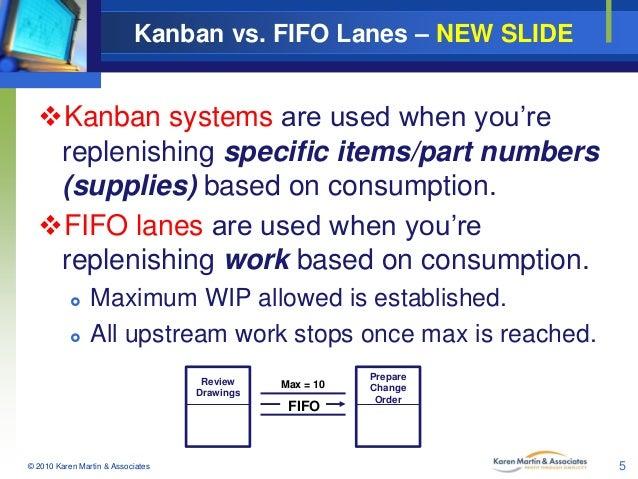 Kanban Vs Fifo Lanes