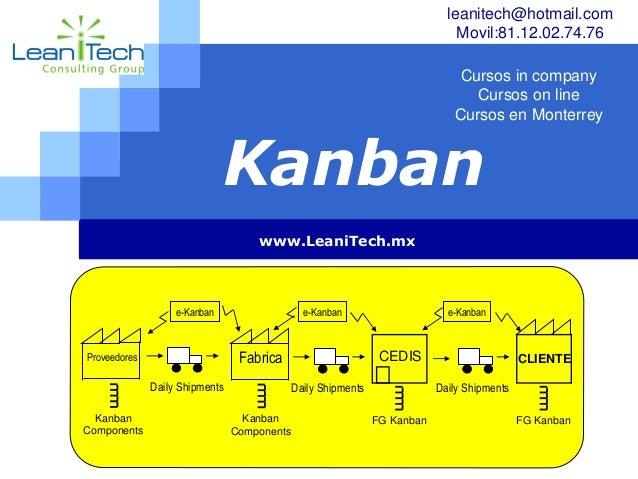 LOGO Kanban www.LeaniTech.mx Fabrica Daily Shipments Kanban Components CEDIS FG Kanban Proveedores Kanban Components Daily...
