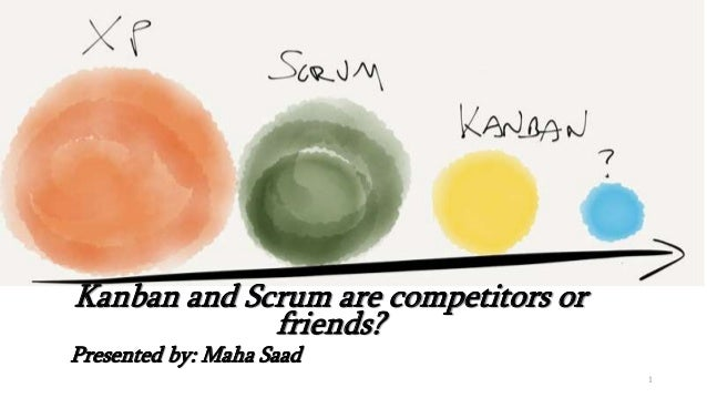 Kanban and Scrum are competitors or friends? Presented by: Maha Saad 1