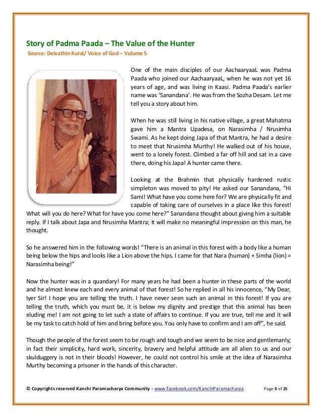 Kanchi Paramacharya Community: Stories told by Sri Kanchi Mahaswami -…