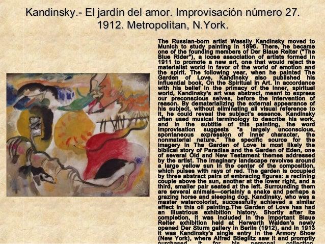 Kandinsky for Amor en el jardin