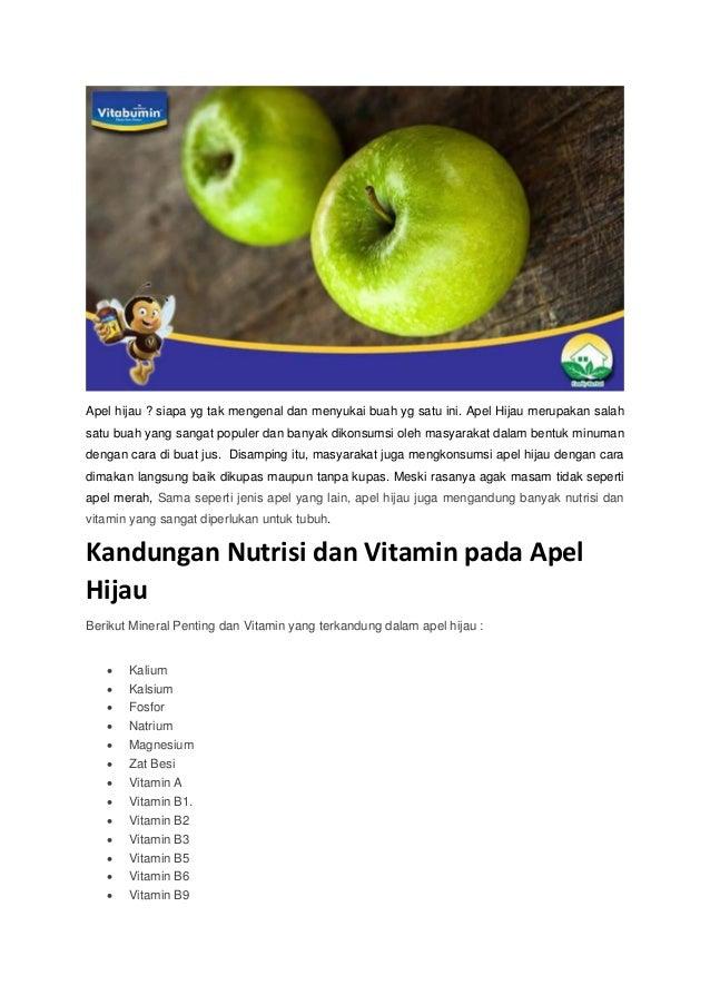 Kandungan Nutrisi Dan Vitamin Pada Apel Hijau