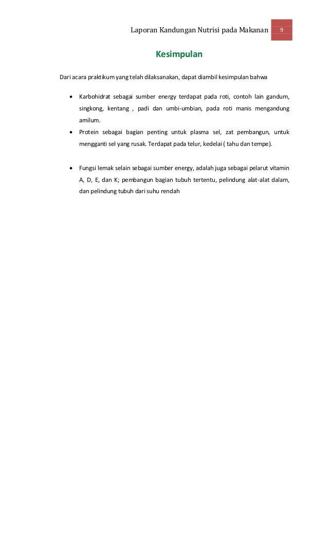 Contoh Laporan Praktikum Vitamin Laporan 7
