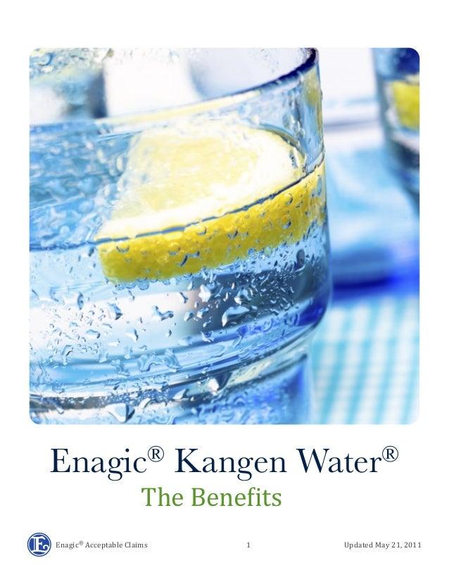 Enagic®  Acceptable  Claims               ...